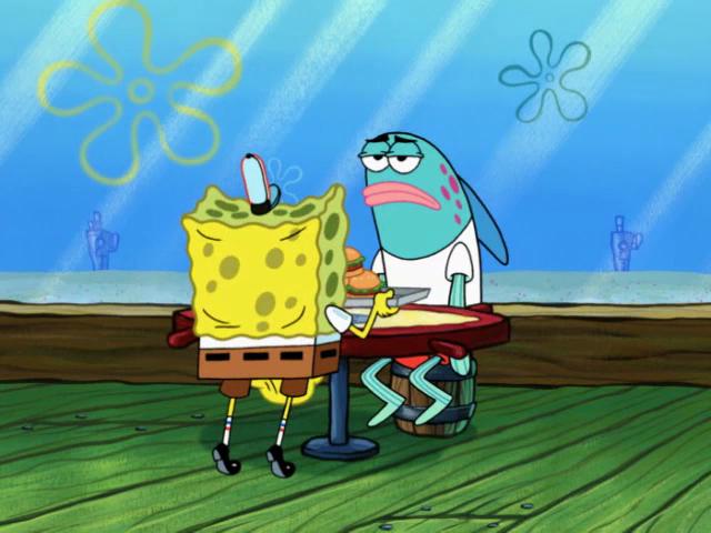 SpongeBob SquarePants Face Freeze!Glove World RIP