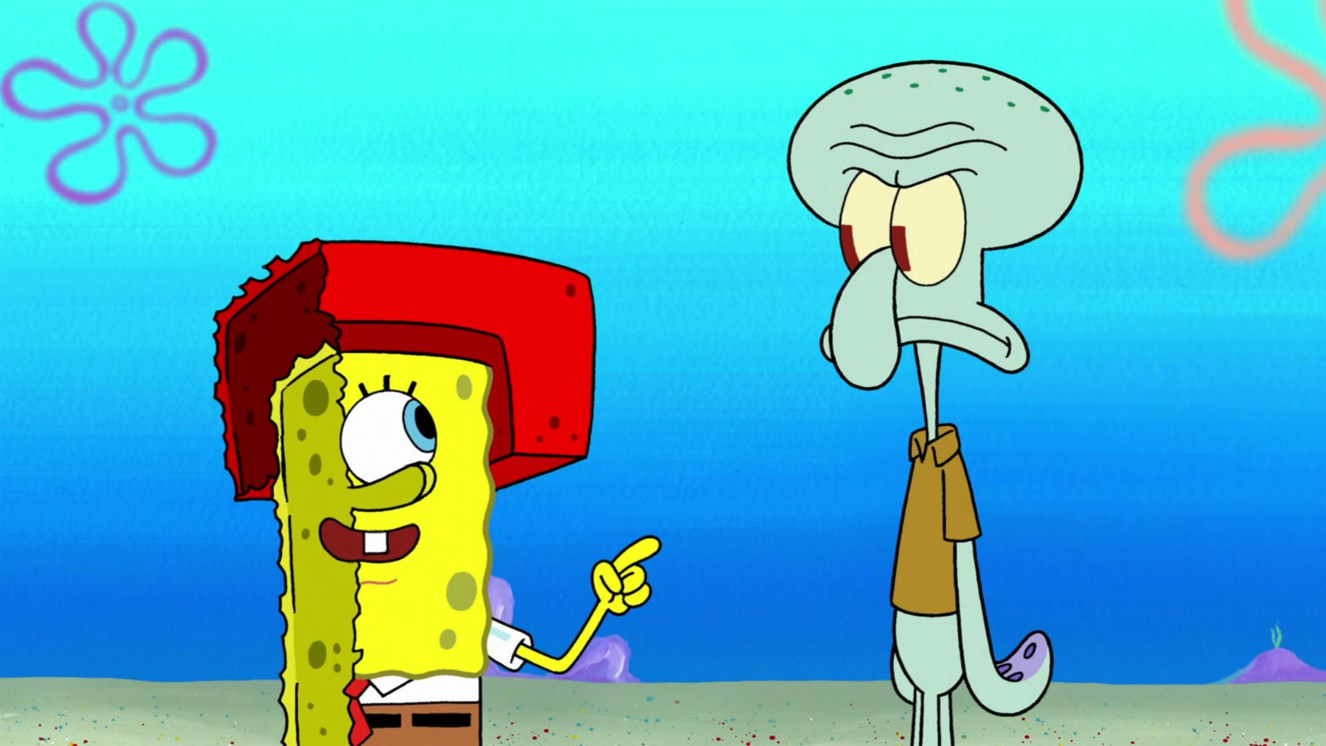 spongebuddy mania spongebob pictures squid defense