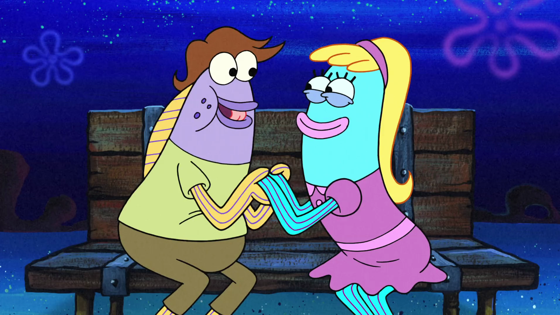 Squidward and sandy together