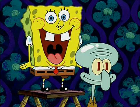 spongebob excited face