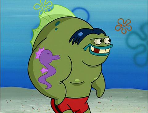 Spongebuddy mania spongebob characters big fish for Big fish characters