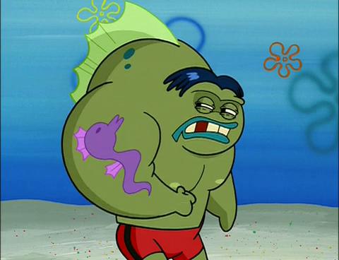 Spongebuddy mania spongebob characters big fish for Spongebob characters fish