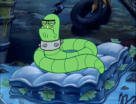 Spongebuddy Mania Spongebob Characters Guard Worm