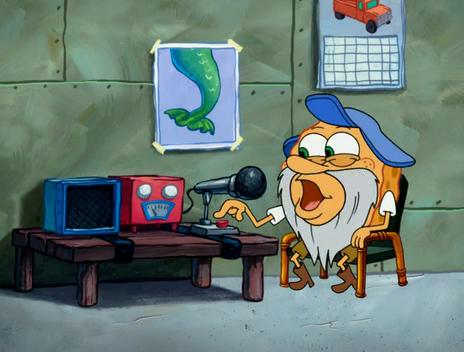 Spongebuddy Mania Spongebob Characters Captain Blue